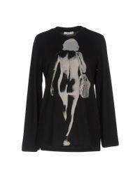 Céline - Black T-shirt - Lyst
