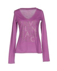 Calvin Klein Jeans   Purple T-shirt   Lyst