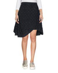 Vivienne Westwood Anglomania - Black Denim Skirt - Lyst