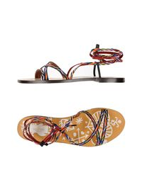 Valentino - Black Sandals - Lyst