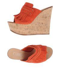 Casadei - Orange Sandals - Lyst