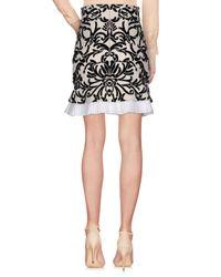 Alexander McQueen - White Knee Length Skirt - Lyst