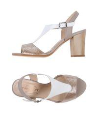Donna Soft - Metallic Sandals - Lyst