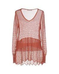 Stefanel - Pink Sweaters - Lyst