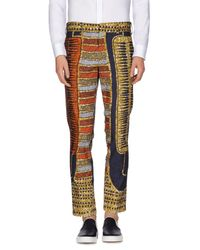 Stella Jean - Multicolor Printed Cropped Trousers for Men - Lyst