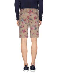 AT.P.CO - Natural Bermuda Shorts for Men - Lyst