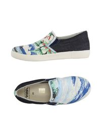Springa - Blue Low-tops & Sneakers - Lyst