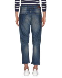 Low Brand - Blue Denim Trousers for Men - Lyst