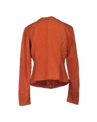 Armani Jeans - Brown Jacket - Lyst