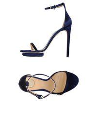 Elisabetta Franchi - Blue Sandals - Lyst