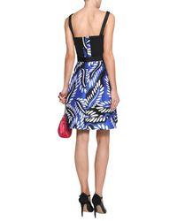 Diane von Furstenberg - Blue Short Dress - Lyst