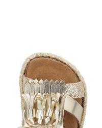 Colors Of California - Metallic Sandals - Lyst