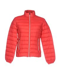 Trussardi - Red Down Jacket for Men - Lyst