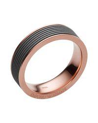 Emporio Armani - Gray Rings for Men - Lyst