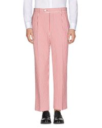 LC23 - Red Casual Trouser for Men - Lyst