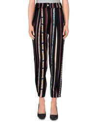 Shirtaporter - Black Casual Pants - Lyst