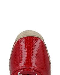 MM6 by Maison Martin Margiela - Red Lace-up Shoe - Lyst