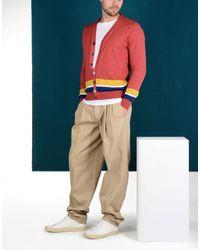 Luca Larenza - Red Cardigan for Men - Lyst
