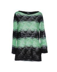 M Missoni - Green Sweater - Lyst