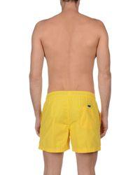 North Sails - Yellow Swim Trunks for Men - Lyst