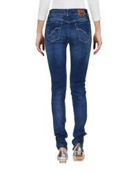 Trussardi - Blue Denim Trousers - Lyst