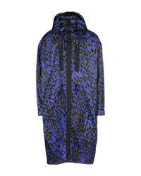 DSquared² - Blue Overcoat for Men - Lyst
