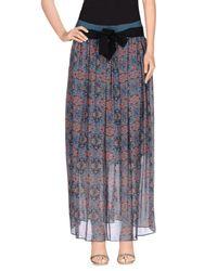 Pinko - Gray Long Skirt - Lyst