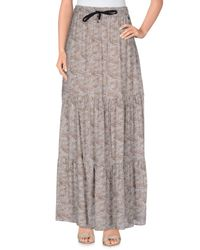 Souvenir Clubbing Gray Long Skirt