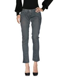 2W2M - Gray Casual Pants - Lyst