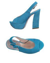 Alberto Moretti - Blue Sandals - Lyst