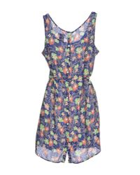 Franklin & Marshall - Blue Short Dress - Lyst