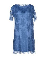 Les Copains | Blue Short Dress | Lyst