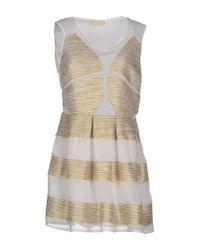 Eyedoll - Metallic Short Dress - Lyst
