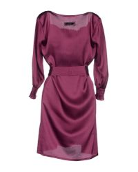 GAUDI - Purple Short Dress - Lyst