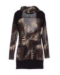22 Maggio By Maria Grazia Severi - Black Short Dress - Lyst