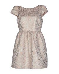 Alice + Olivia - Pink Short Dress - Lyst