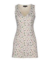 American Retro | White Short Dress | Lyst