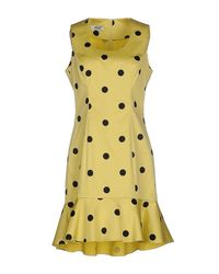 Boutique Moschino   Yellow Short Dress   Lyst