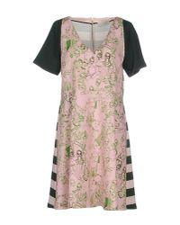 L'Autre Chose | Pink Short Dress | Lyst