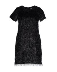 Blugirl Blumarine - Black Short Dress - Lyst