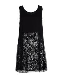 CoSTUME NATIONAL - Black Short Dress - Lyst