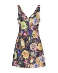 Darling | Purple Short Dress | Lyst