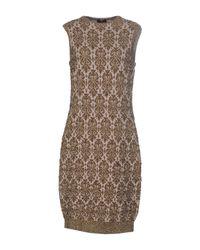 Lanvin - Gray Short Dress - Lyst