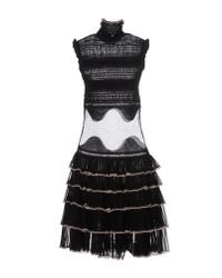 Alexander McQueen | Black Knee-length Dress | Lyst