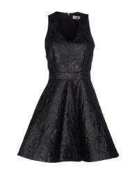 MSGM | Black Short Dress | Lyst