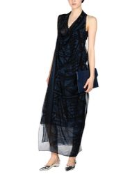 Donna Karan | Blue 3/4 Length Dress | Lyst