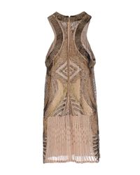 Roberto Cavalli | Natural Short Dress | Lyst