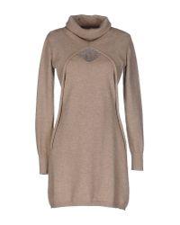 Cruciani - Natural Short Dress - Lyst
