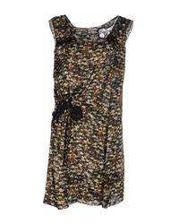 Philosophy di Alberta Ferretti | Green Short Dress | Lyst
