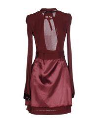 Maison Margiela - Purple Short Dress - Lyst
